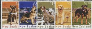 NZ SG2840-4 Chinese New Year (Year of the Dog): Dogs set of 5